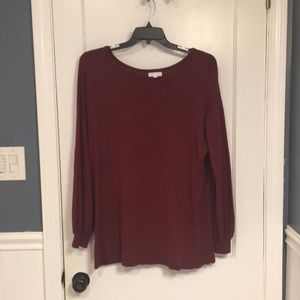 Plus Size Maroon/Red Crewneck Sweater